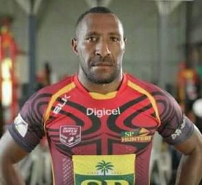 PNG Hunters foward Willie Minoga